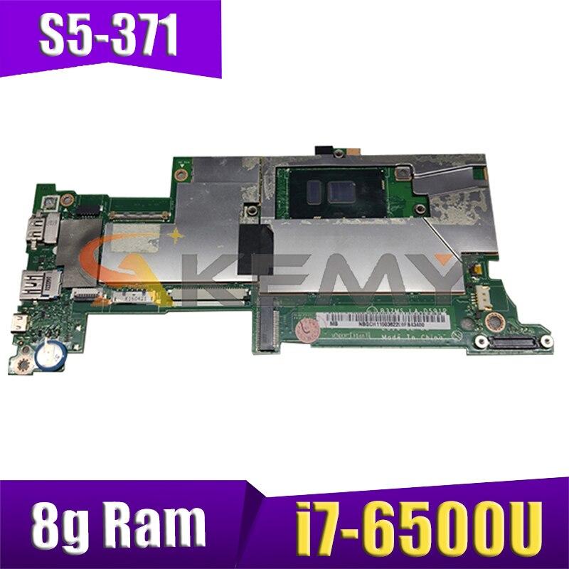 AKEMY B3ZMS LA-D591P لشركة أيسر سويفت S5-371 S5-371T NBGCH11006 ملحوظة. GCH11.006 اللوحة المحمول SR2EZ i7-6500U 8g Ram