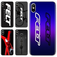 Soft Case For Huawei Y6 Y5 2019 For Xiaomi Redmi Note 4 5 6 7 8 Pro Mi A1 A2 A3 6X 5X 7A Felt bicycl