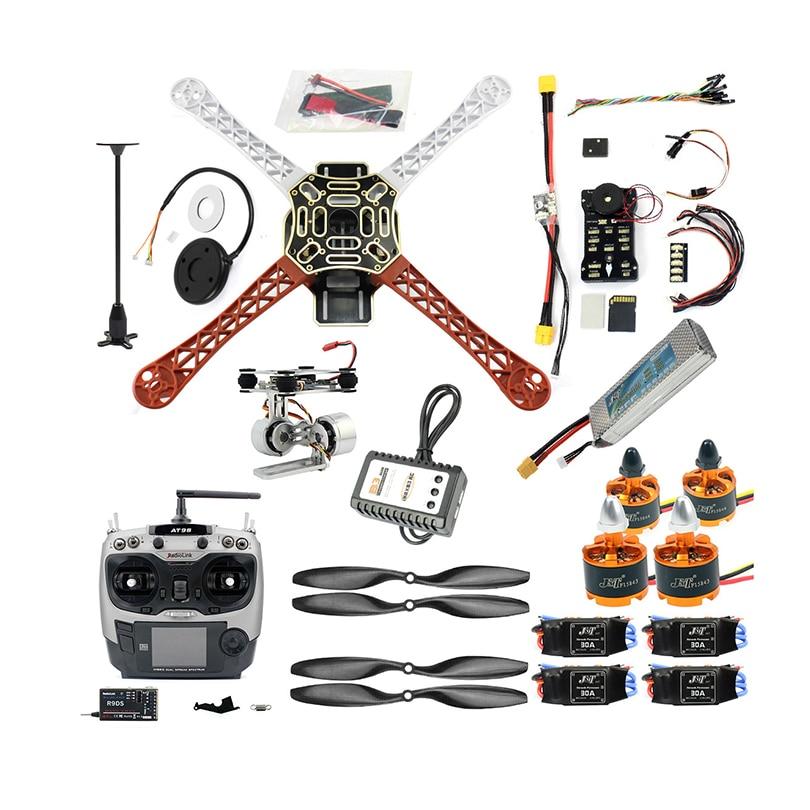 DIY RC FPV Drone كيت 4-محور Quadcopter مع F450 إطار PIXHAWK PXI PX4 رحلة التحكم 920KV المحرك GPS AT9S الارسال استقبال