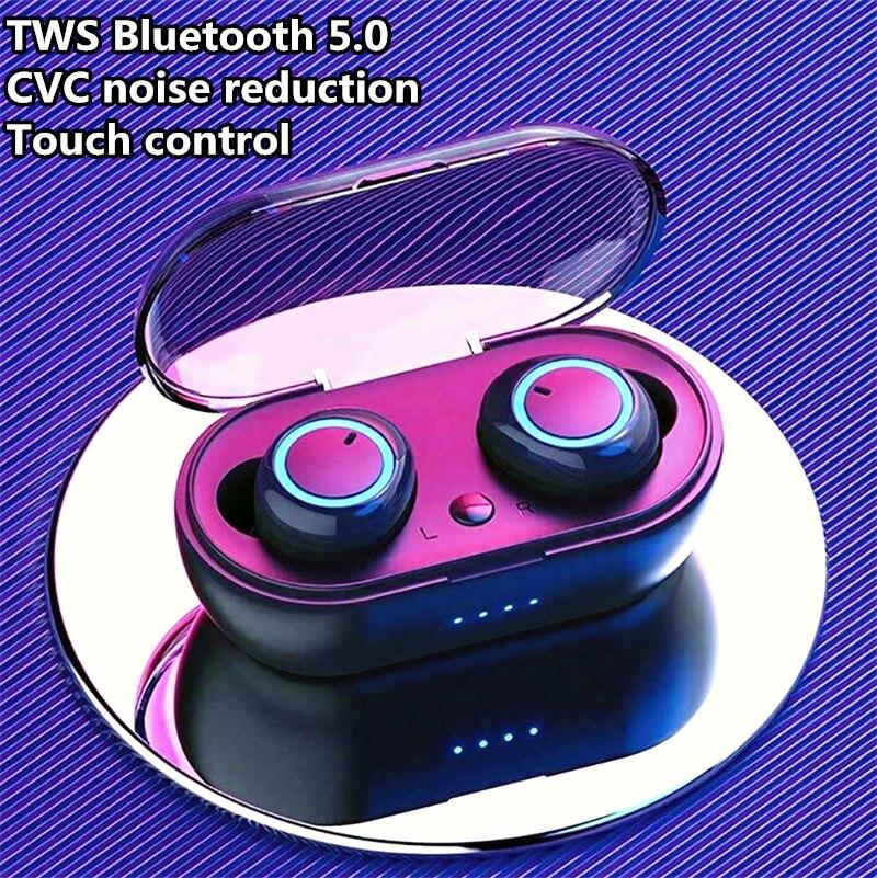 Genuine W12 TWS Bluetooth 5.0 Headset CVC Noise reduction earphones Sports Wireless Earphones Stereo Earbuds with HD Microphone