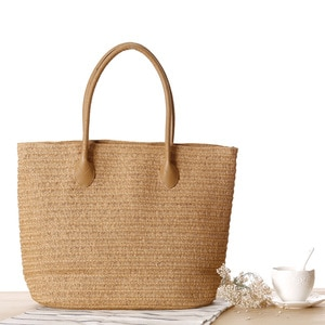 New Fashion Straw Shoulder Bag Simple Travel Travel Beach Woven Women's Bags Large Capacity Handbag Mochila Mujer Bolsa Feminina