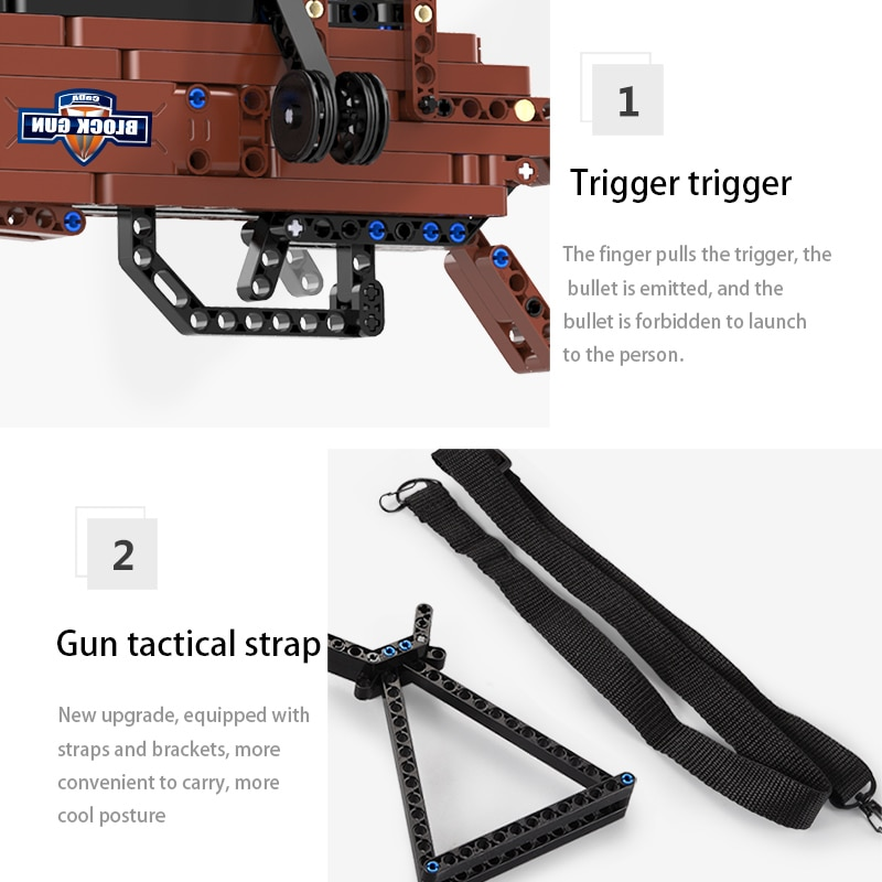 SWAT Military WW2 Weapon 98K Desert Eagle Submachine Models Building Blocks Compatible For Pistol GUN Blocks Toys