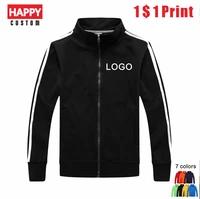 happy fashion stand collar jacket custom stripe long sleeve cheap print logo 35 cotton lovers shirt outdoor casual jacket