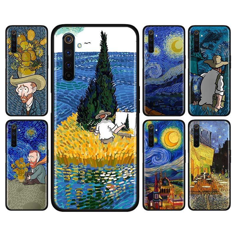Carcasa suave de silicona para Realme X50 Pro 5G XT C3 5i 6i 5 6 X2 Pro, carcasa de 10a de Van Gogh sky art
