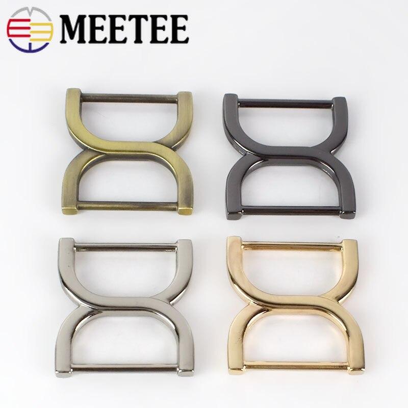 5/10/20pc Meetee 25mm Square Bag Buckles Shoes Garment Belt Buckle Clasp Handbag Strap Adjuster Snap Hooks DIY Accessories BF188