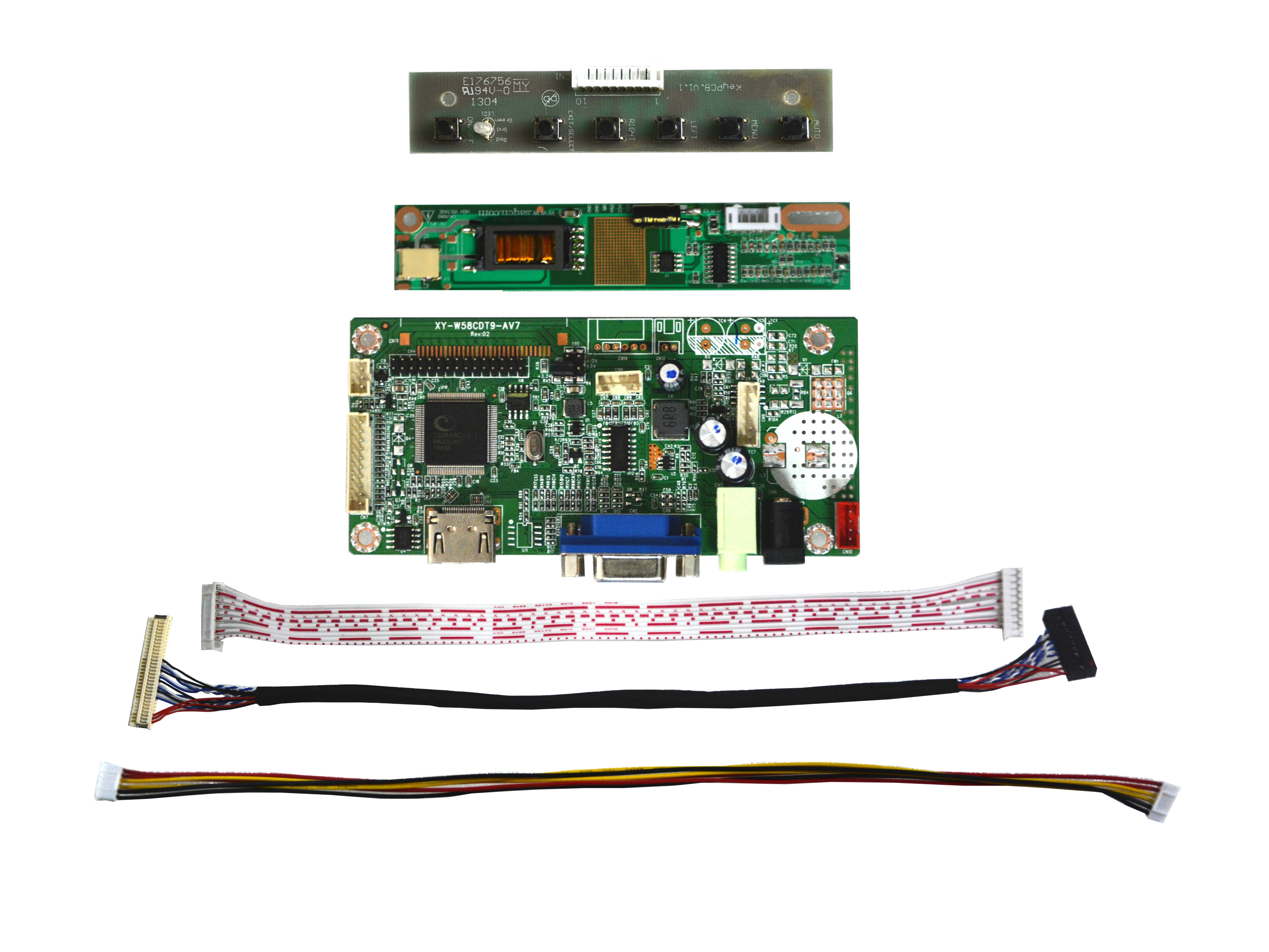 Free Shipping 58C VGA LVDS HDMI-compatible LCD Controller Board Kit For 15.4inch CLAA154WB05AN 1280x800 LED Screen