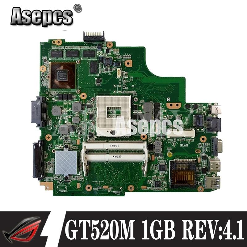 Asepcs K43SJ материнская плата для ноутбука ASUS X43S A43S K43S A83S A84S K43SV материнская плата 100% ОК REV 4,1 1 Гб GT520M