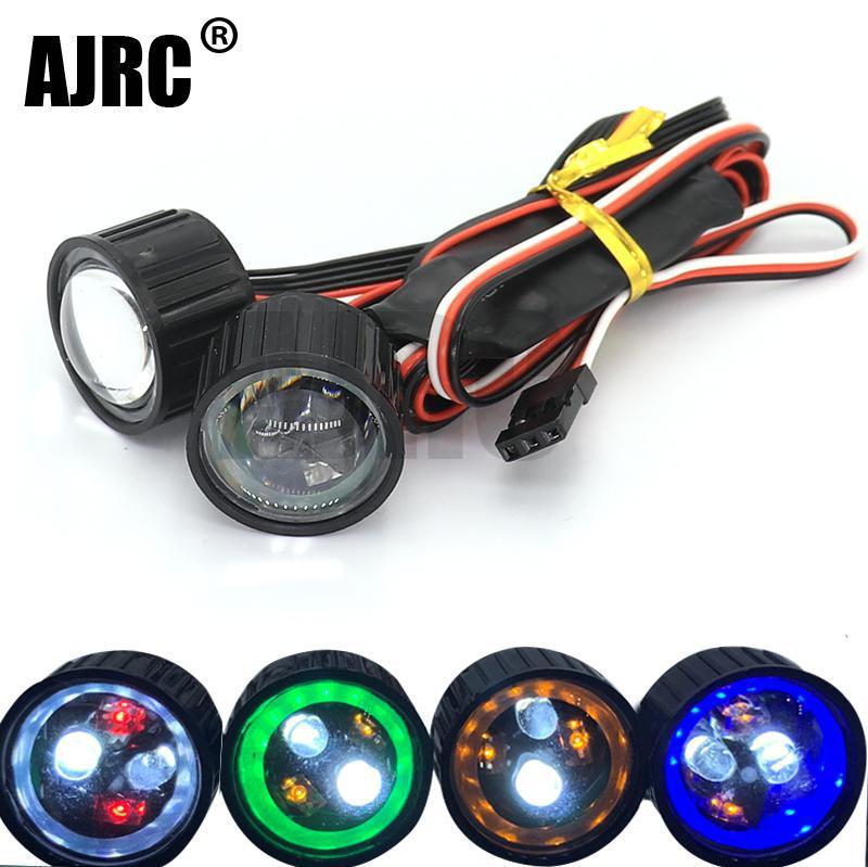 AJRC 22 مللي متر متعددة الوظائف RC مصباح أمامي LED للسيارات أضواء مع CH3 تحكم مجلس ل 1/10 محوري SCX10 90046 jkmax العربة المتسلقة للصخور