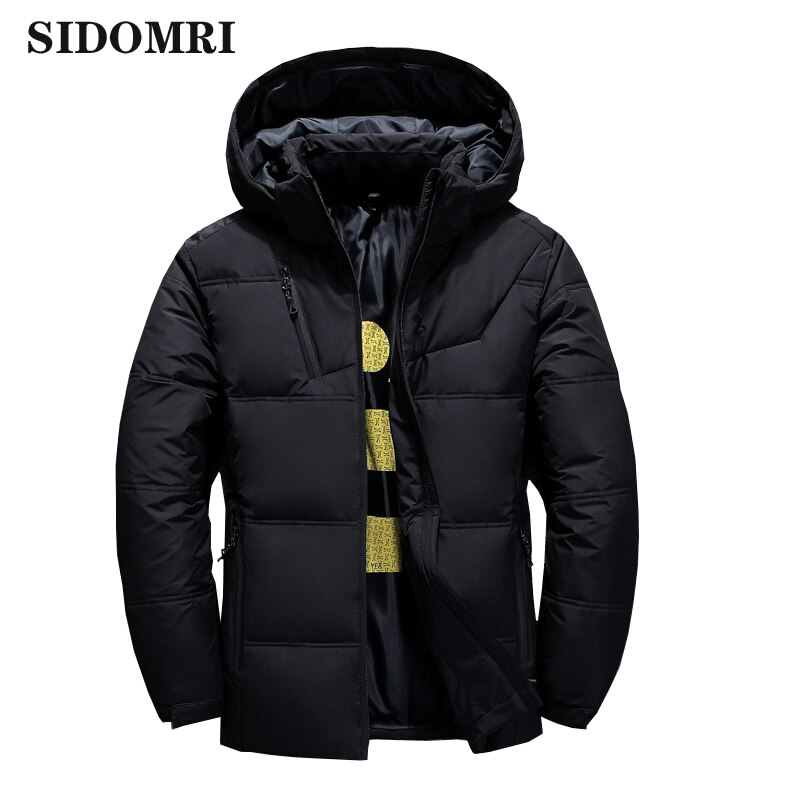 Фото - Winter  Men Jacket Stand Collar Puffer Thick warm Hat White Duck Down Parka Male Casual Jacket With Hooded covrlge trendy hooded men s white duck down jacket stand collar embroidered down jacket men winter warm causal coat us mwy034
