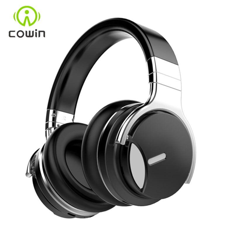 Cowin-سماعة رأس لاسلكية E7MD مزودة بتقنية البلوتوث وميكروفون ، وجهاز إلغاء الضوضاء النشط ، ووقت تشغيل 30 ساعة