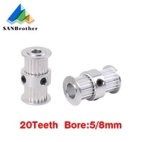 gt2 pulley type double head gt2 20 teeth 9mm width bore 58mm timing pulley for gt2 timing belt 3d printer part gear