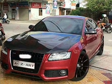 Z-ART carbon faser motor motorhaube für Audi A5 2008-2012 Carbon faser motor abdeckung für Audi A5 B8 carbon faser motorhaube