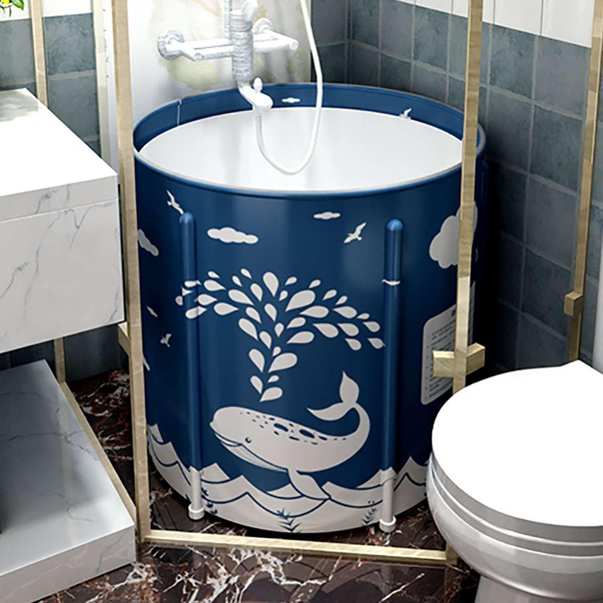 Portable Bathtub Folding Bath Bucket Foldable Large Adult Tub Baby Swimming Pool Insulation Family Bathroom SPA Sauna Bath Tub enlarge