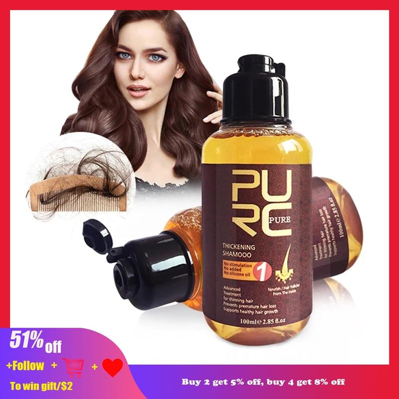 AliExpress - PURC Herbal Ginseng Shampoo Hair Growth Essence Treatment For Hair Regrowth Serum Repair Hair Root Thicken Hair Care