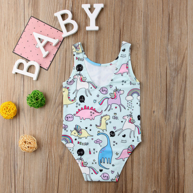 Dibujos Animados recién nacidos niños niñas unicornio traje de baño lindo Niño 1 Uds traje de baño Bikini traje de baño ropa de playa