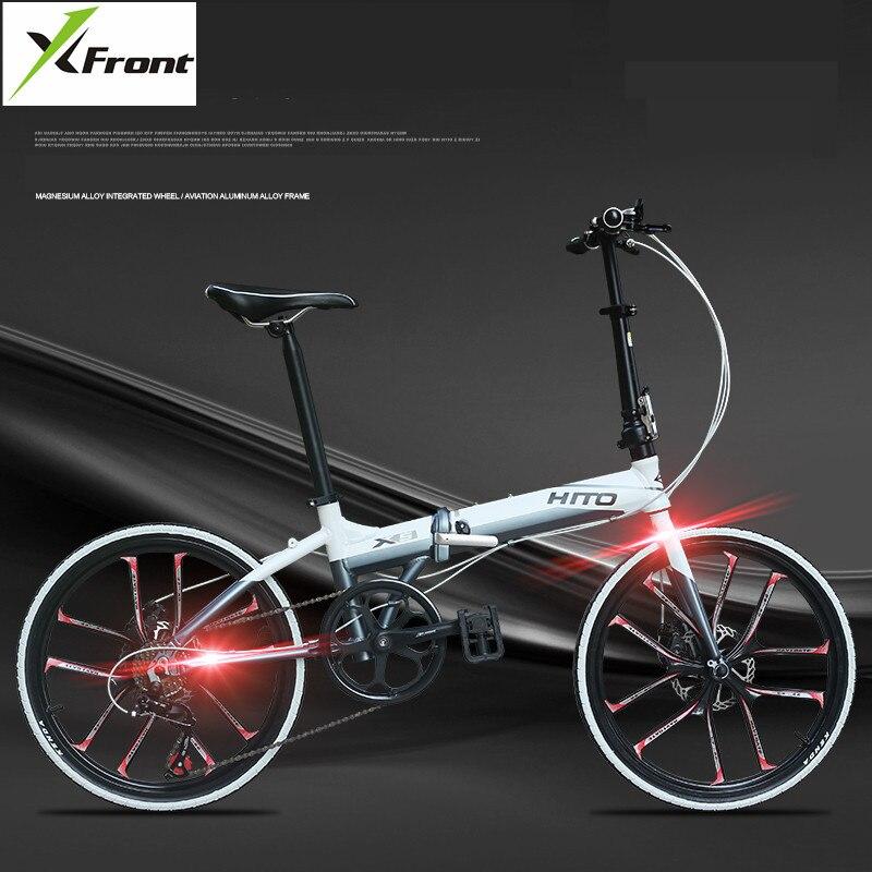 New X-Front Road Bike Aluminum Alloy Frame 22 inch Wheel Dual Disc Brake Folding Bike Light Weight bmx Bicycle
