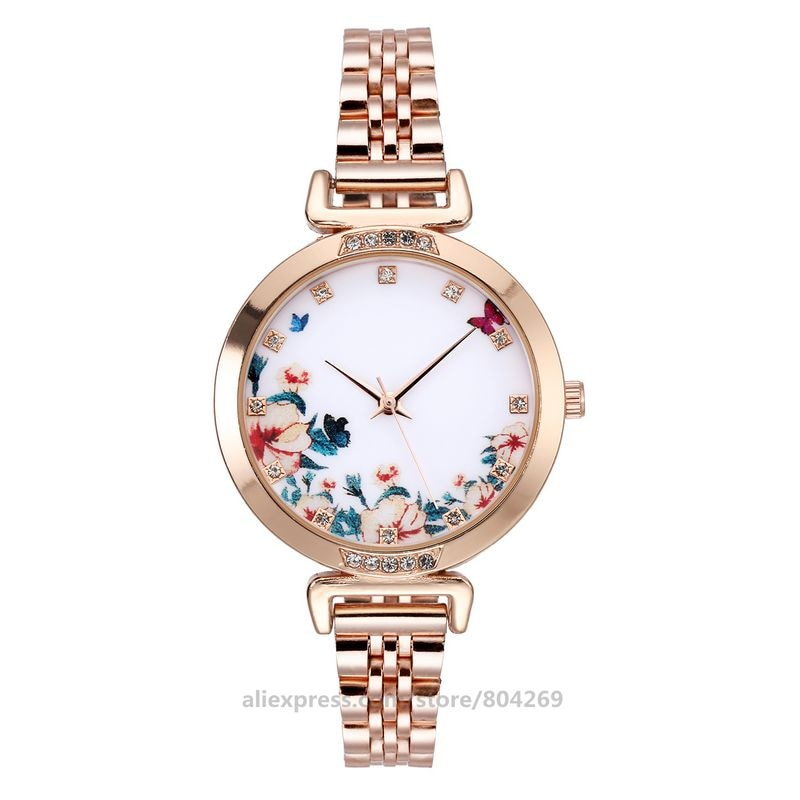 حار بيع السيدات الموضة كوارتز الصلب ساعة اليد رقيقة حزام المرأة حساسة مصمم ساعات يد نسائية