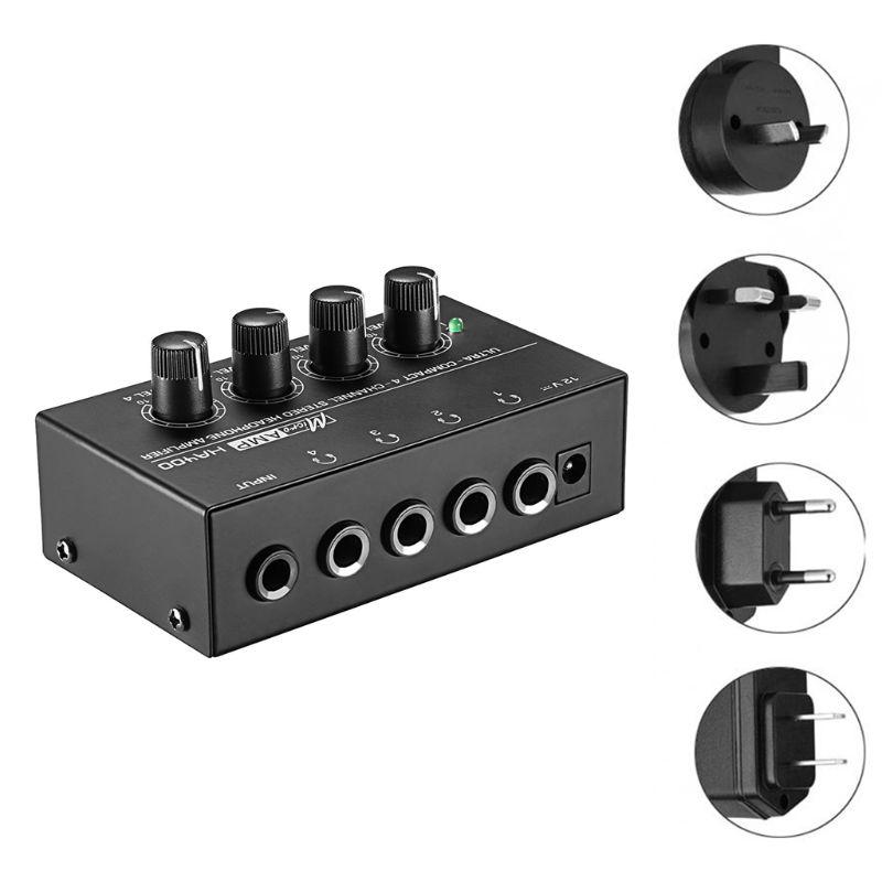 Amplificador de Fone de Ouvido Estéreo com Adaptador de Energia Canais Mini – Reino Unido ue au 831d Ha400 4 Eua