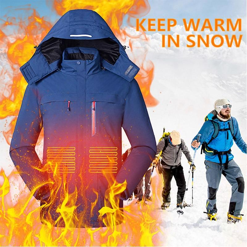 سترة النساء الحرارية الدافئة, معطف مقاوم للماء ، سترة ساخنة ، لركوب التزلج والصيد USB ، سترة ساخنة للنساء والرجال ، معطف #10
