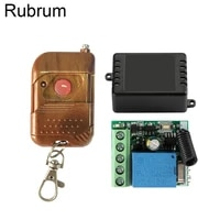 rubrum 433mhz universal wireless dc 12v 1 ch remote control switch rf relay receiver learning code for garage lock door light