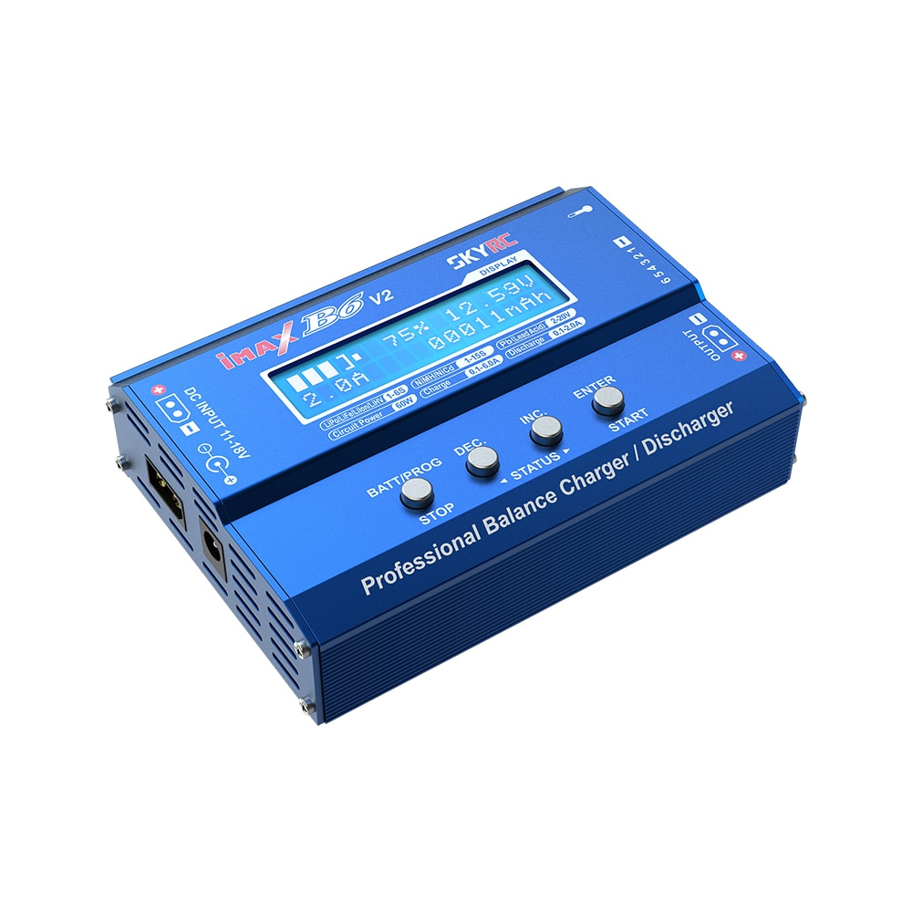 Original SKYRC iMAXB6 V2 60W DC Balance charge discharge for RC Helicopter battery Lipo Li-on Lihv LiFe and Pb battery Charger enlarge