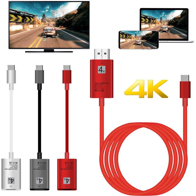 4K TypeC HDMI адаптер Тип C Телефон подключения ТВ кабель HDTV видео конвертер для Macbook Samsung S8 S9 S10 Huawei P30 LG G5 Android