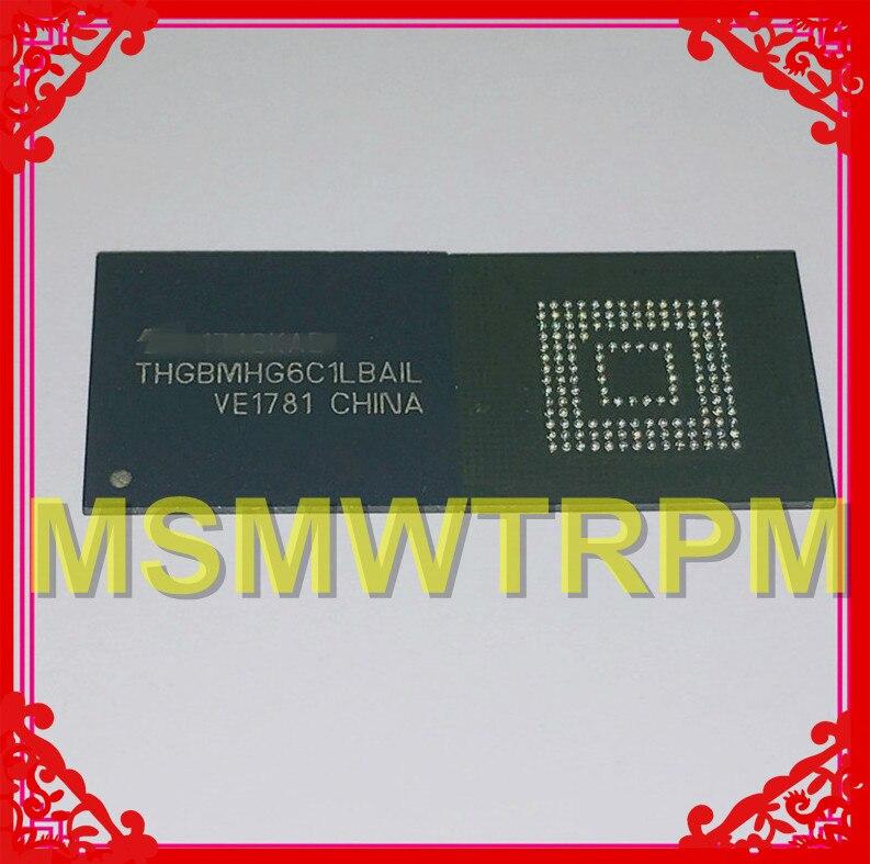 THGBMHG6C1LBAIL BGA153Ball EMMC5.1 5,1 8GB memoria de teléfono móvil nuevo original y de segunda mano bolas soldadas probado OK