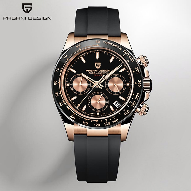 PAGANI DESIGN Quartz Watch Men 2021 Top Brand Automatic Date Wristwatch Stainless Steel Waterproof Chronograph Fashion Casual