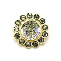 lb1619 thanos infinity gauntlet enamel pin movie brooches bag lapel pin badge backpacks decoration jewelry gift accessories
