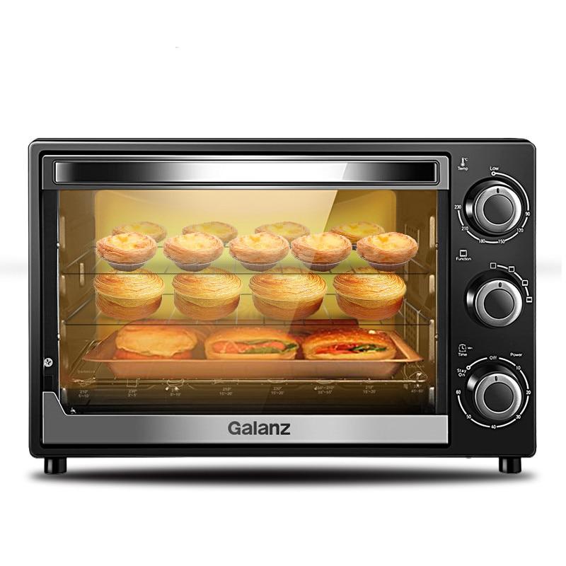 220V hogar pequeño automático multifuncional horno torta horno eléctrico 32L gran capacidad horno tostador