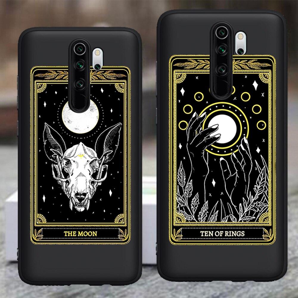 Muerte en 2020 brujas Luna Tarot misterio totem gato funda de teléfono para Xiaomi Mi 9T Redmi Note 5 5 5 6 6 7 8 K20 9T Pro funda de silicona funda