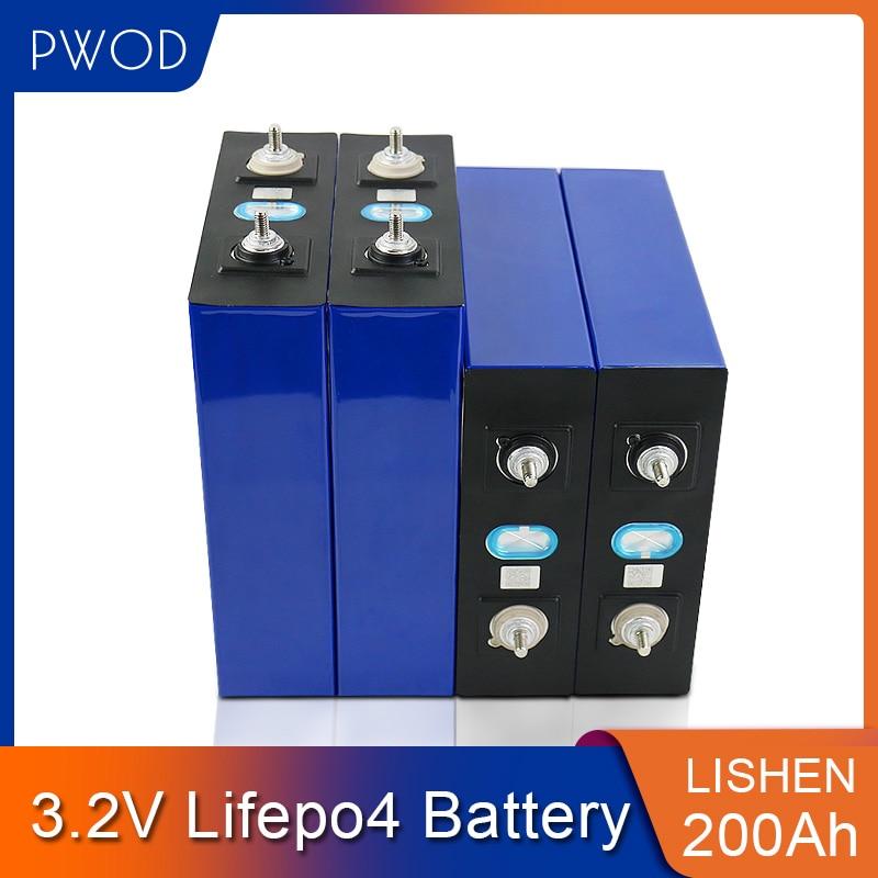PWOD 4-32 قطعة Lifepo4 200AH خلايا 3.2 فولت الصف أ بطارية قابلة للشحن ليثيوم الحديد الفوسفات خلية ل RV الشمسية الاتحاد الأوروبي الولايات المتحدة معفاة من ...