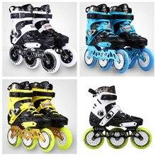 Patines de ruedas zapatos 3 ruedas 3X110mm patines de patinaje en línea para SEBA alta FSK Slalom Speed Road Show 110mm 80mm 243mm marco base