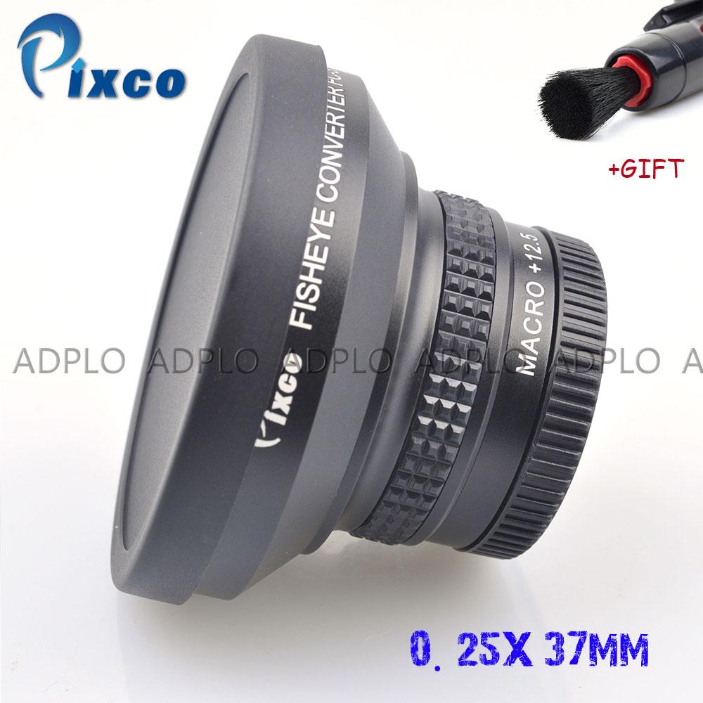 Pixco 37MM 0.25X Super Macro lente ojo de pez gran angular de lente para Canon Fuji FX NIKON PENTAX DSLR SLR Cámara