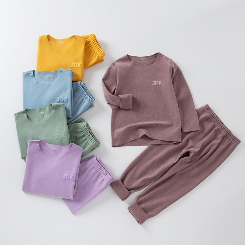 Hipac 2 pçs meninos meninas pijamas conjunto casual pijamas para criança crianças roupa interior pijamas menino menina roupa de noite