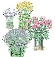 Bouquet type plant bracket plant wrought iron climbing flower frame flower support frame hydrangea bracket suitable for hydrange
