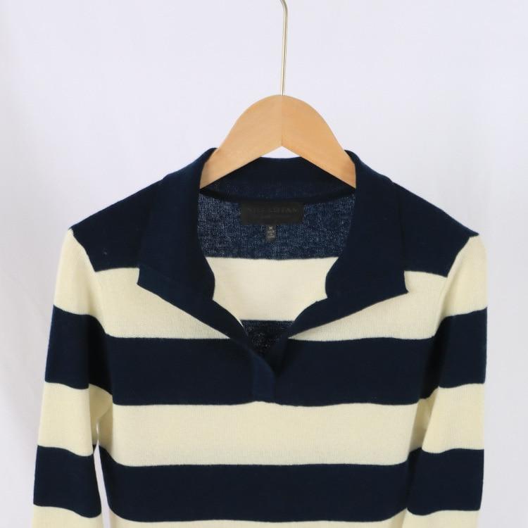2021 Autumn/Winter New Women's Cashmere Temperament Lapels Knitted Jumper Women enlarge