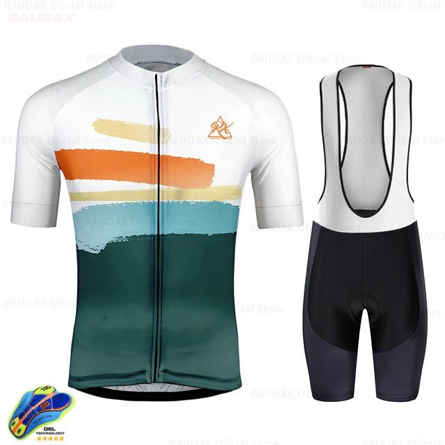 Maillot de ciclismo transpirable para verano, conjunto de camisetas de ciclismo, ropa...