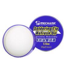 20g ponta de solda refresca a cabeça de solda do reparo do óleo para remover a superfície do óxido de solda limpa cabeça do ferro creme ressurreição