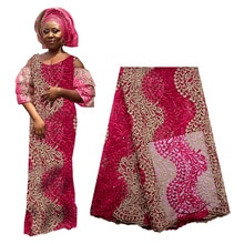 2019 Best Selling African Lace Fabric High Quality Nigerian French Cord Lace Fabric With Beads For W