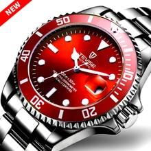TEVISE Black Watches Men Luxury Automatic Mechanical Watch Men Waterproof  Male Clock Luminous Calen