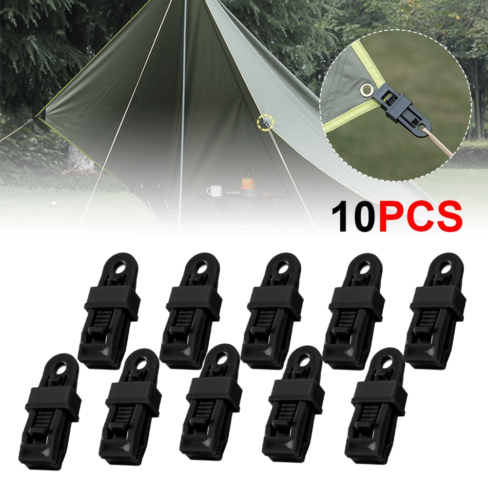 Tent Clip Plastics Heavy Duty Windproof Awning Clamp Outdoor Camping Large Canopy Hook Tent Alligator with Barb Clip Tent Grip
