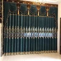 curtains european water soluble embroidery cashmere bedroom curtains for living room modern window curtain valance bedroom