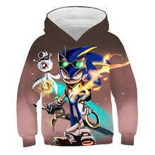 Sonic the Hedgehog 3d Kids Hoodies girl Children Family shirts Anime Harajuku boys clothes Pullover Super Sonic Sweatshirt Tops