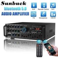 SUNBUCK     amplificateur stereo bluetooth 2000W  son Surround  USB SD  ampli FM  DVD  AUX  ecran LCD  Home cinema  karaoke  telecommande