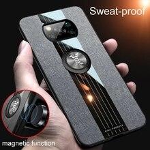 Тканевый чехол с магнитным кольцом держателем для Pocophone Little Poco X 3 Pro X3 NFC силиконовая рамка противоударный чехол PocoX3 Pro