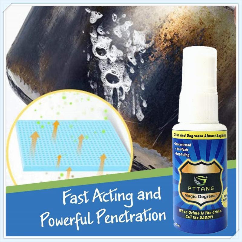 Limpiador mágico desengrasante de 30mL, Spray para baño, casa, diluye la suciedad y el aceite, limpiador multiusos, herramientas de cocina para eliminar el óxido