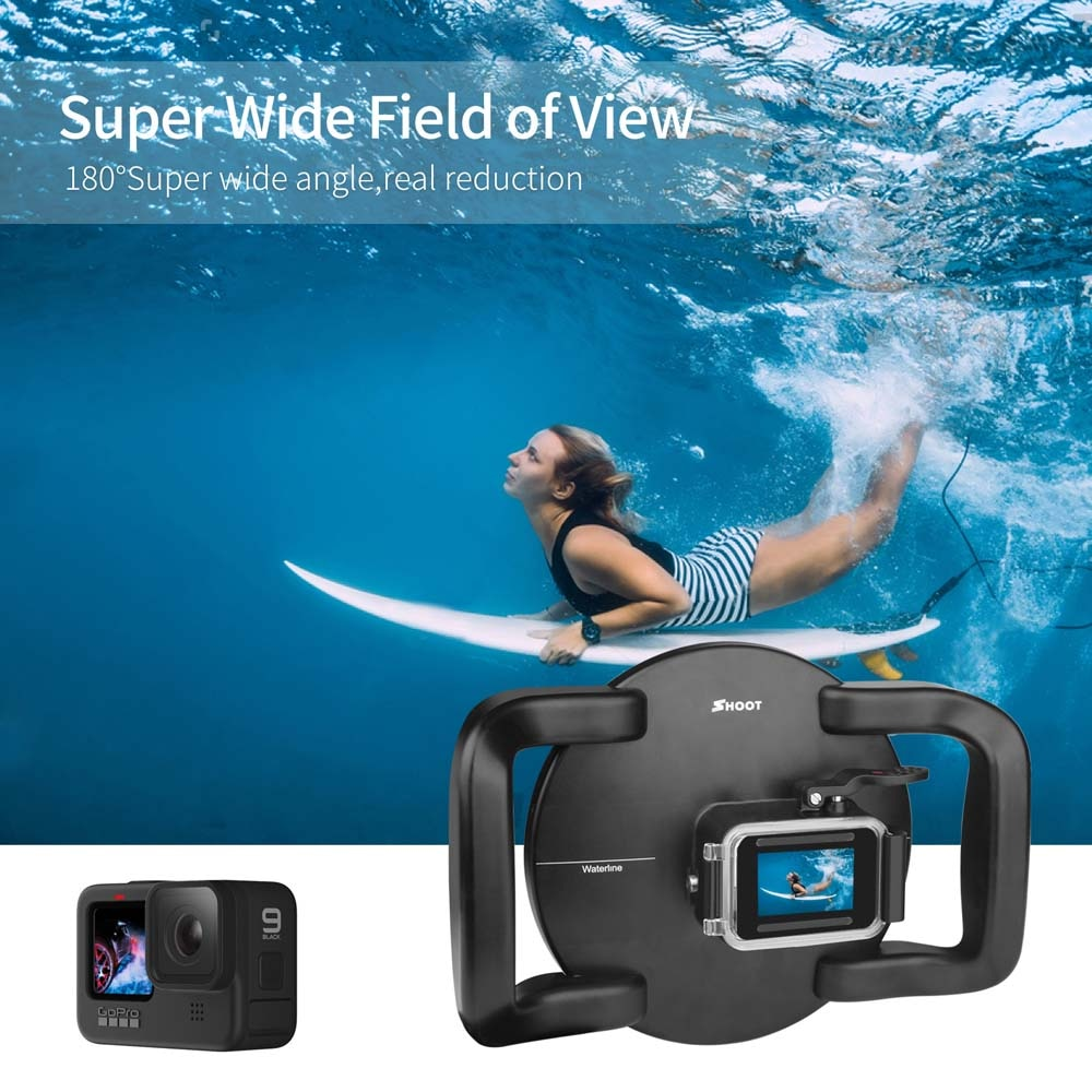SHOOT for GoPro 10 9 Diving Dome Port with Dual Handle Trigger Underwater Waterproof Housing Case Cover for GoPro Hero 10 Black enlarge