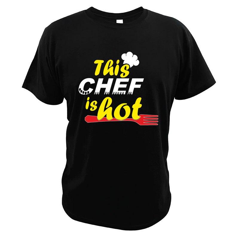 Camiseta de algodón con estampado Digital de 100%... cuello redondo cocina de...