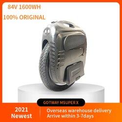 2021 mais novo gotway msuper x plus 84v/1600wh monociclo elétrico garantia original, 2500w motor super potência máxima velocidade 60km/h + estoque